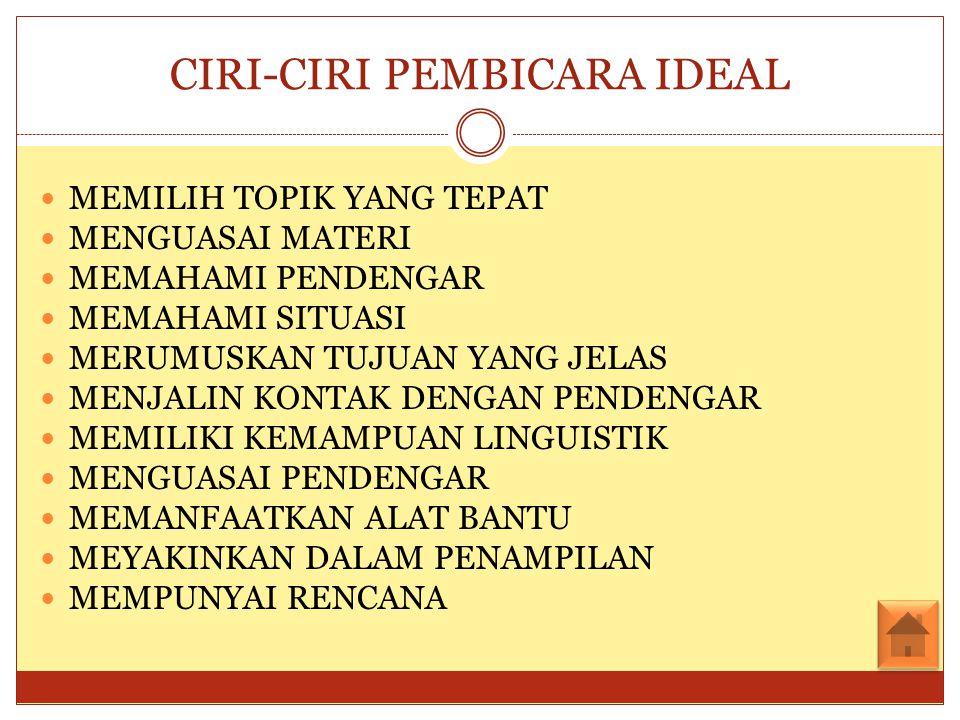 CIRI-CIRI PEMBICARA IDEAL