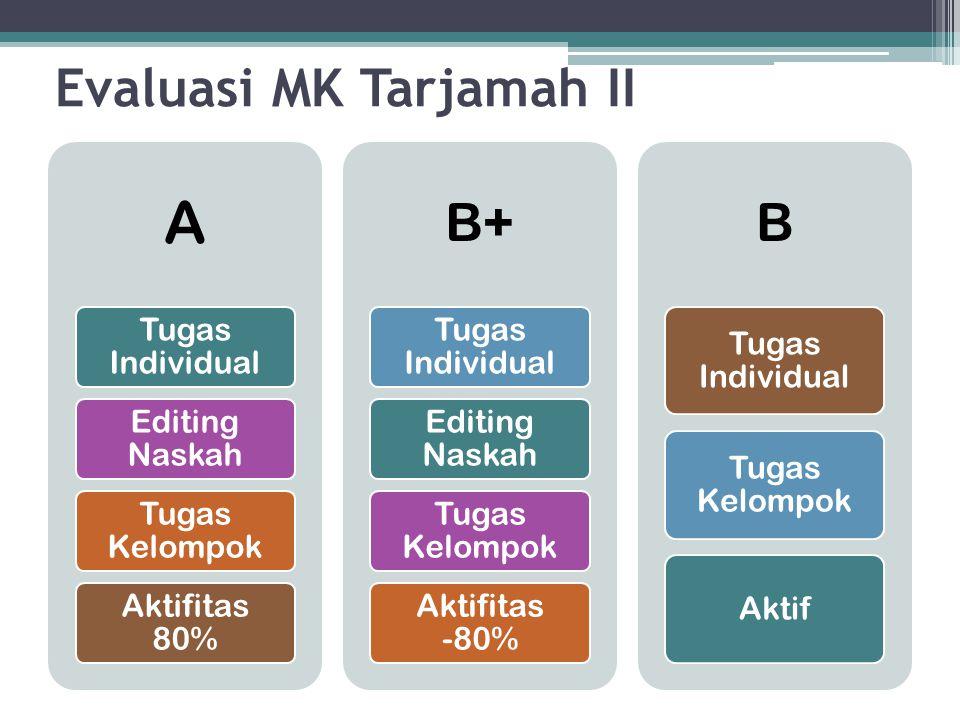 Evaluasi MK Tarjamah II