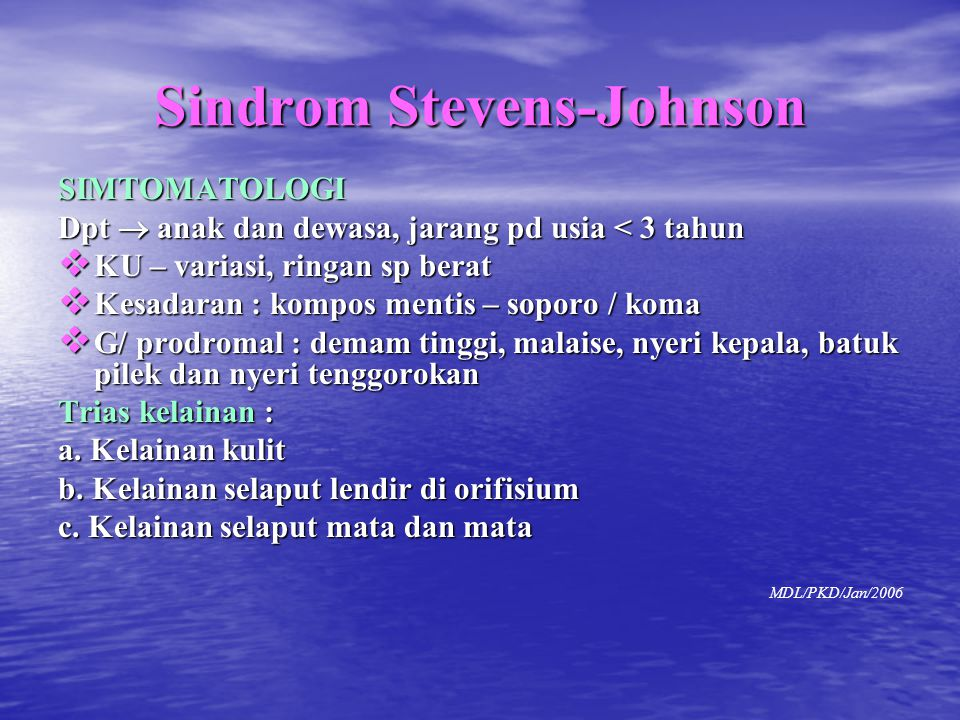 Sindrom Stevens-Johnson