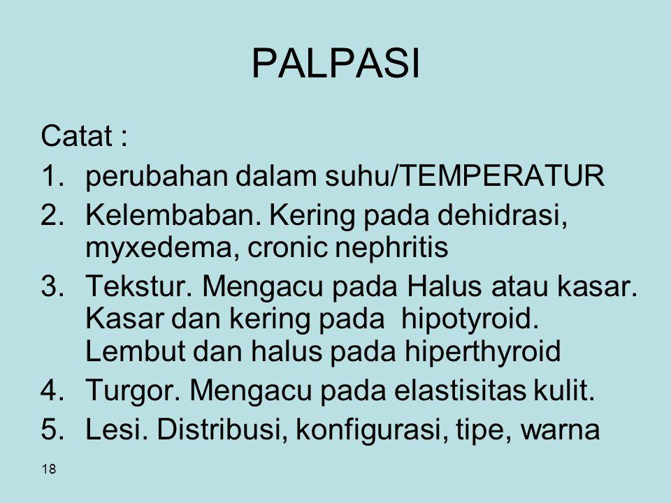 PALPASI Catat : perubahan dalam suhu/TEMPERATUR
