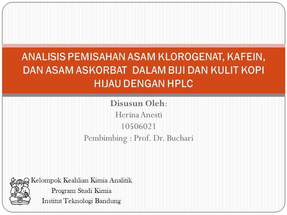 Disusun Oleh: Herina Anesti 10506021 Pembimbing : Prof. Dr. Buchari