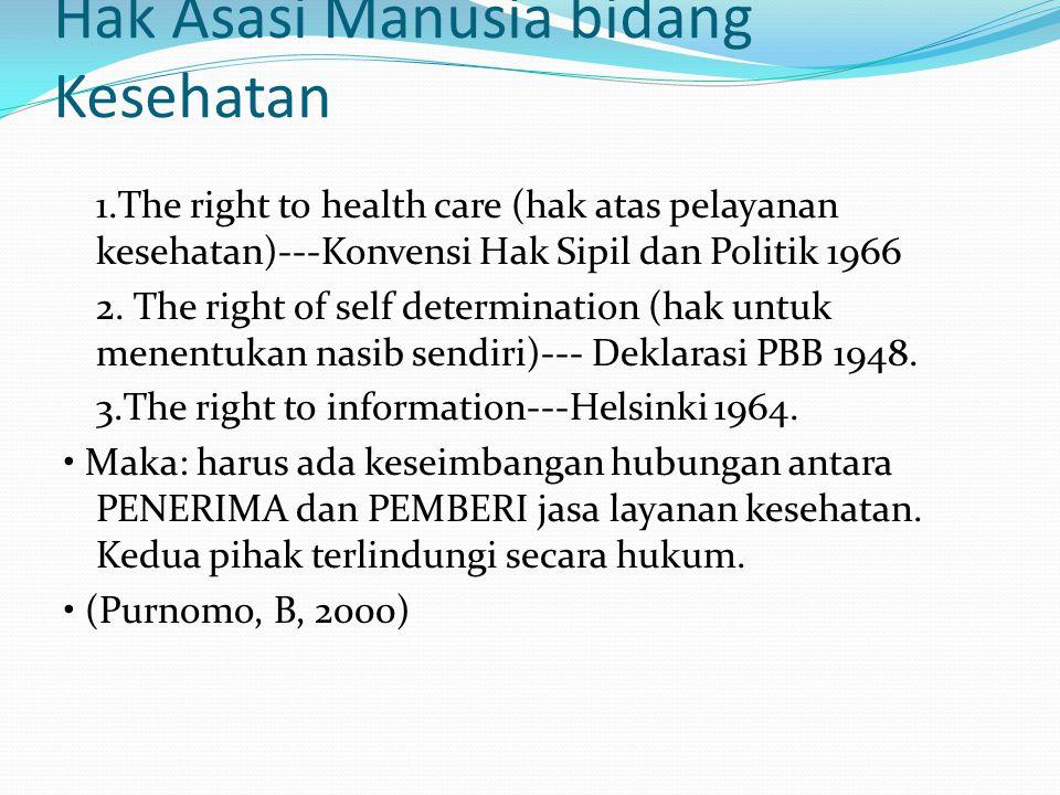Hak Asasi Manusia bidang Kesehatan