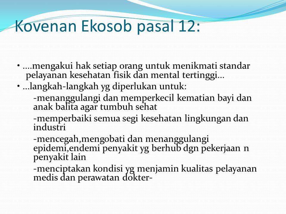 Kovenan Ekosob pasal 12: