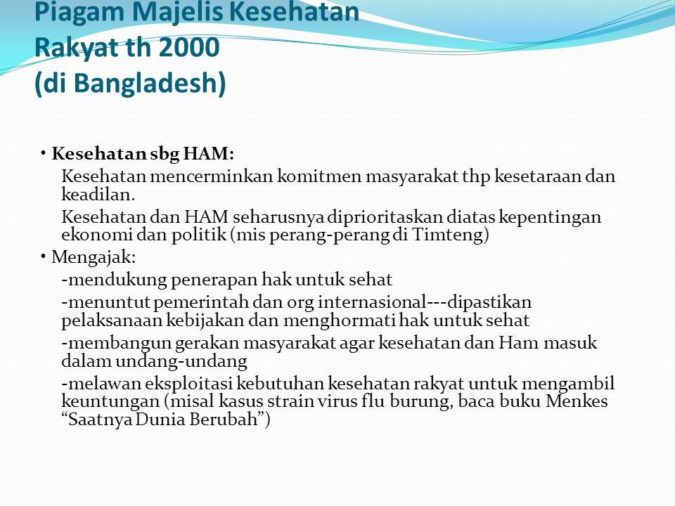 Piagam Majelis Kesehatan Rakyat th 2000 (di Bangladesh)