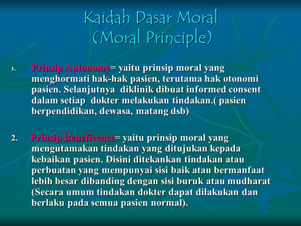 Kaidah Dasar Moral (Moral Principle)