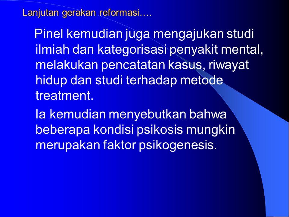 Lanjutan gerakan reformasi….