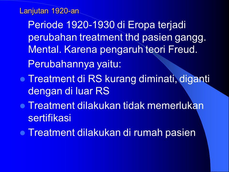 Treatment di RS kurang diminati, diganti dengan di luar RS