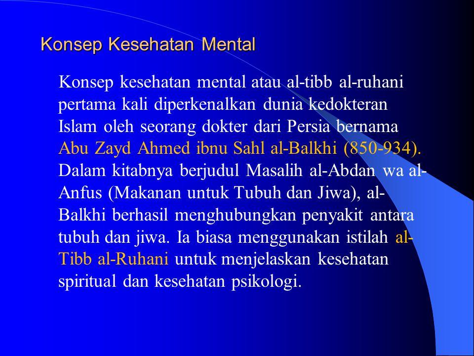 Konsep Kesehatan Mental