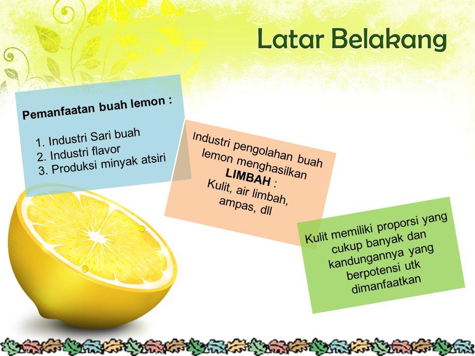 Industri pengolahan buah lemon menghasilkan LIMBAH :