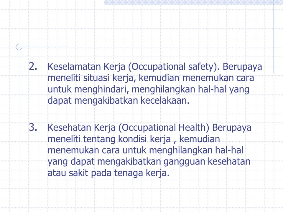 Keselamatan Kerja (Occupational safety)