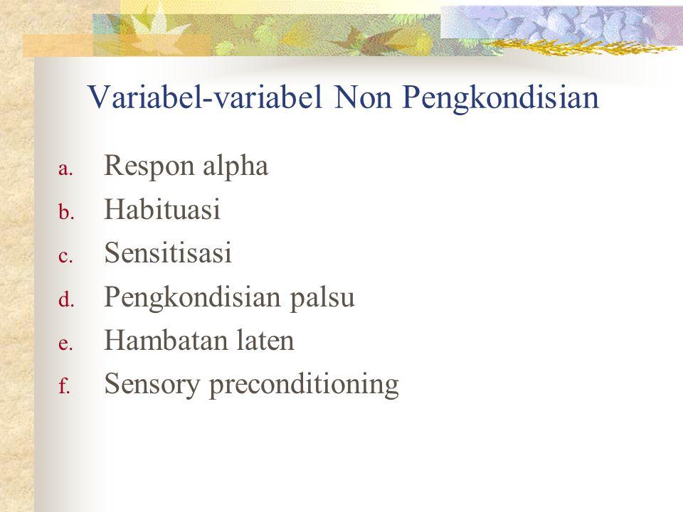 Variabel-variabel Non Pengkondisian