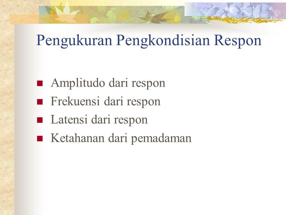Pengukuran Pengkondisian Respon