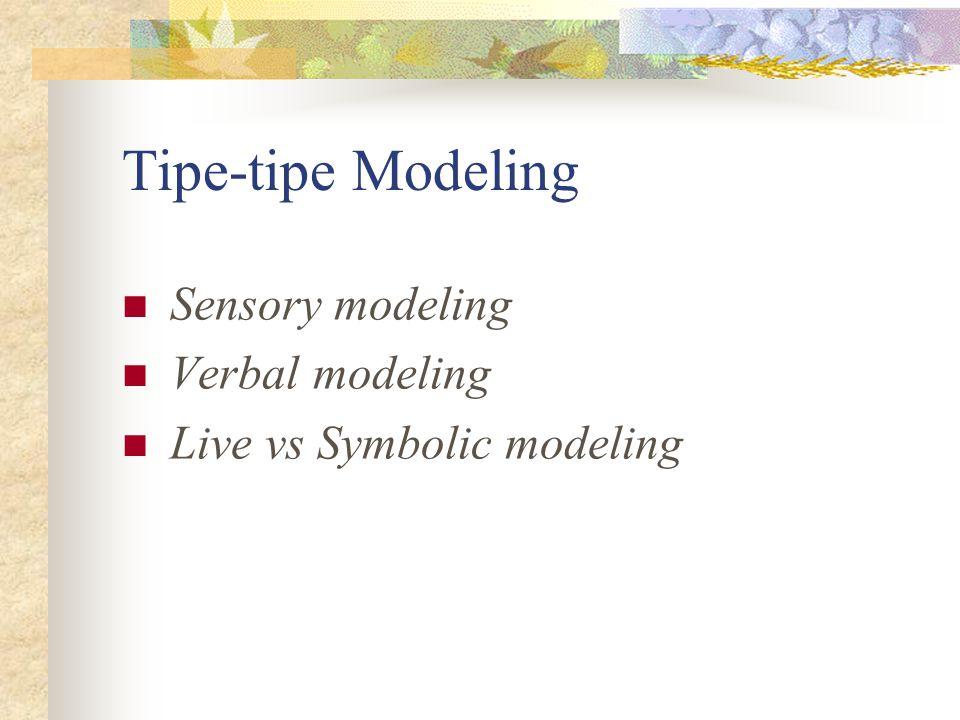 Tipe-tipe Modeling Sensory modeling Verbal modeling