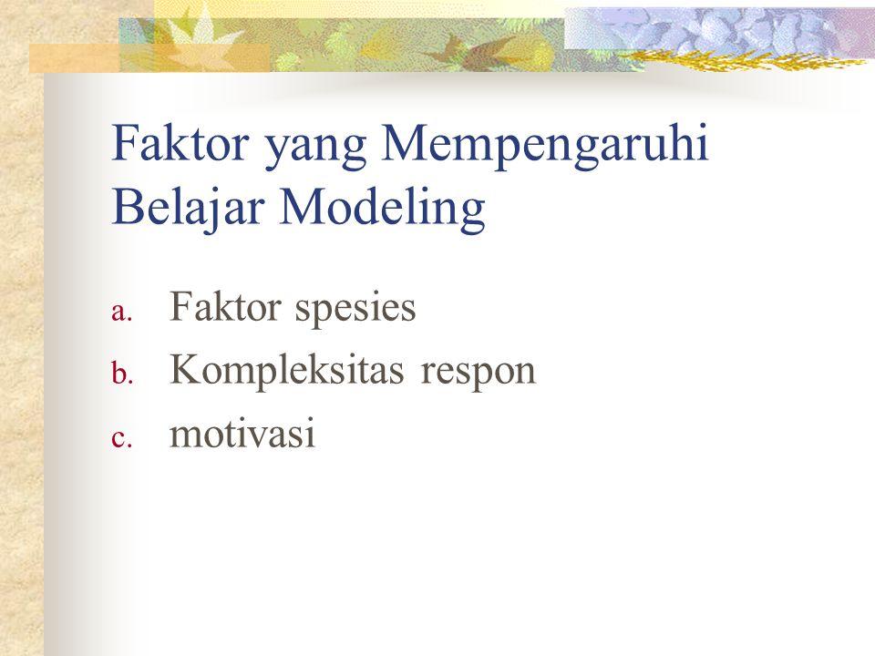 Faktor yang Mempengaruhi Belajar Modeling