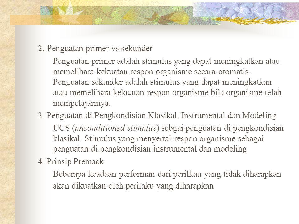 3. Penguatan di Pengkondisian Klasikal, Instrumental dan Modeling