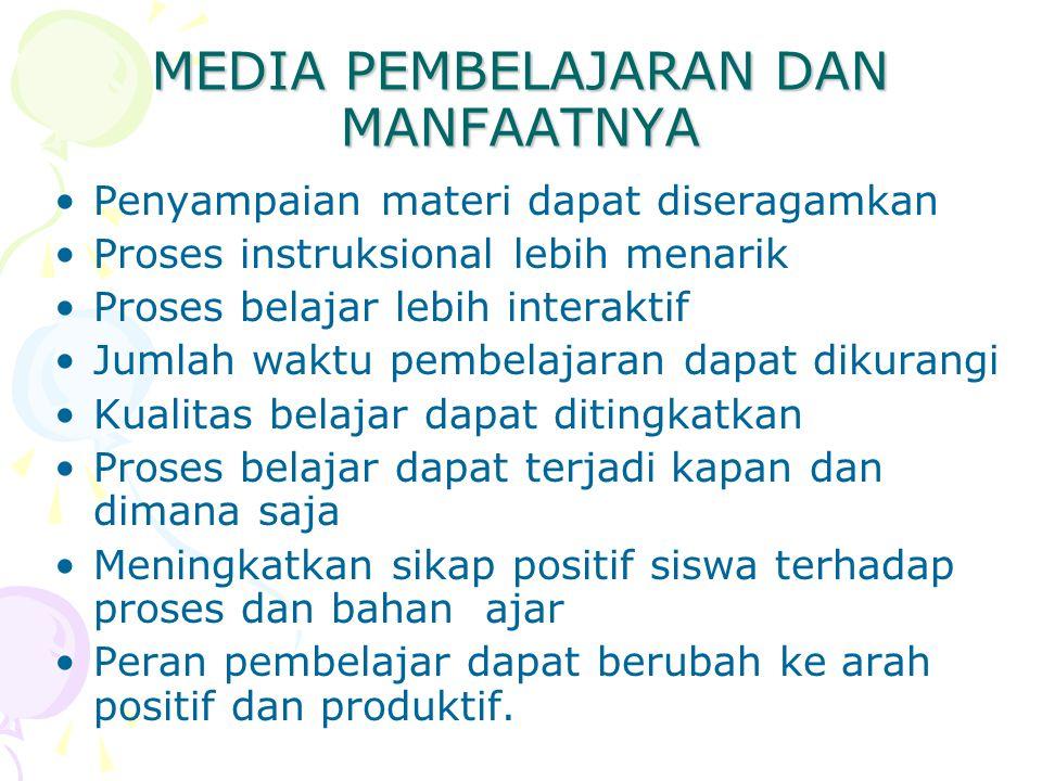 MEDIA PEMBELAJARAN DAN MANFAATNYA