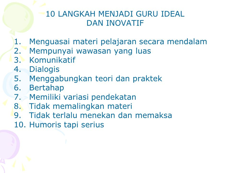 10 LANGKAH MENJADI GURU IDEAL