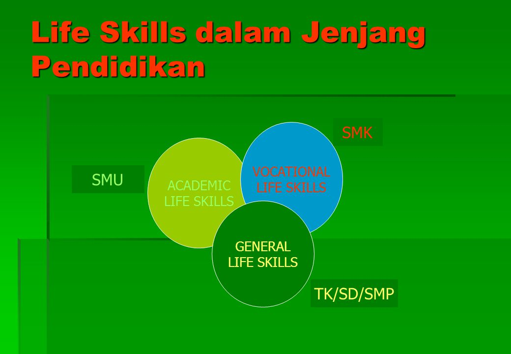 Life Skills dalam Jenjang Pendidikan