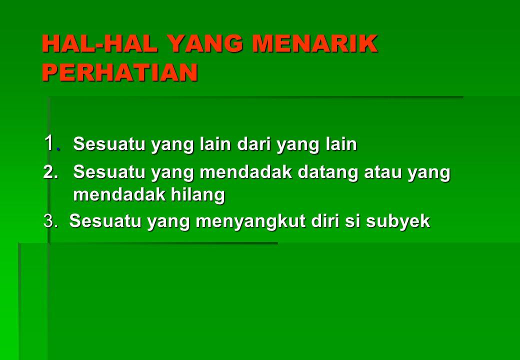 HAL-HAL YANG MENARIK PERHATIAN