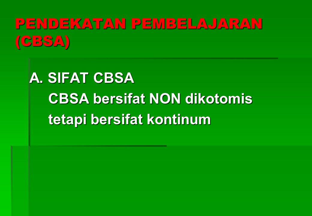 PENDEKATAN PEMBELAJARAN (CBSA)