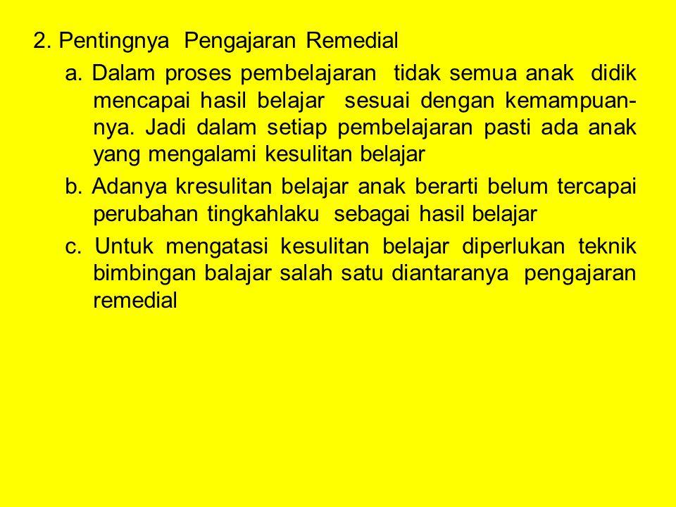 Pentingnya Pengajaran Remedial