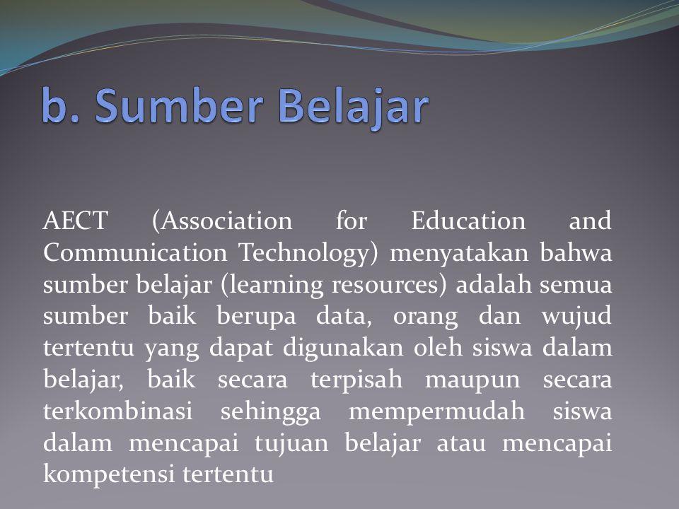 b. Sumber Belajar