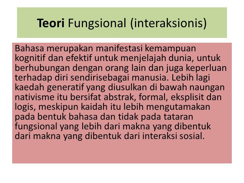 Teori Fungsional (interaksionis)