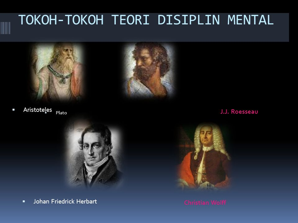TOKOH-TOKOH TEORI DISIPLIN MENTAL
