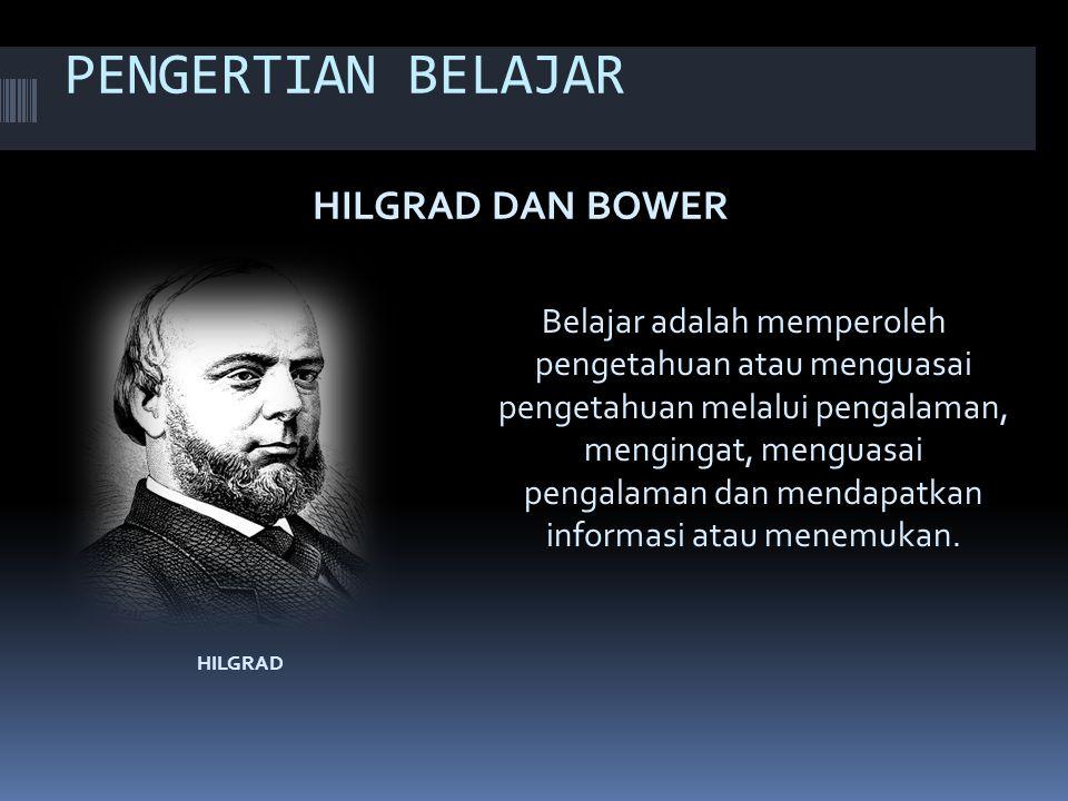 PENGERTIAN BELAJAR HILGRAD DAN BOWER