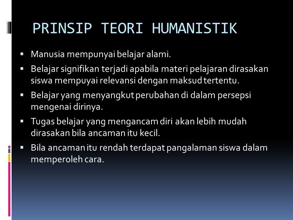 PRINSIP TEORI HUMANISTIK