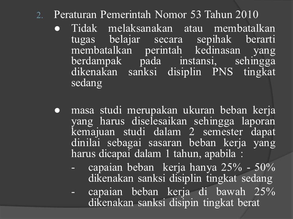 Peraturan Pemerintah Nomor 53 Tahun 2010