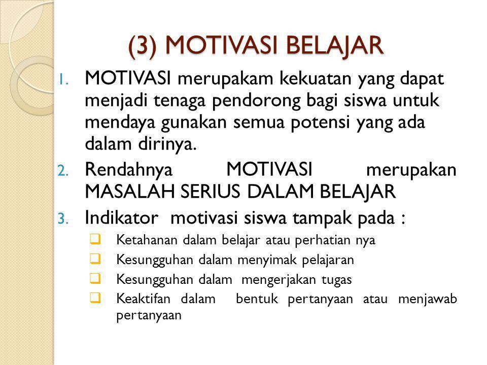 (3) MOTIVASI BELAJAR