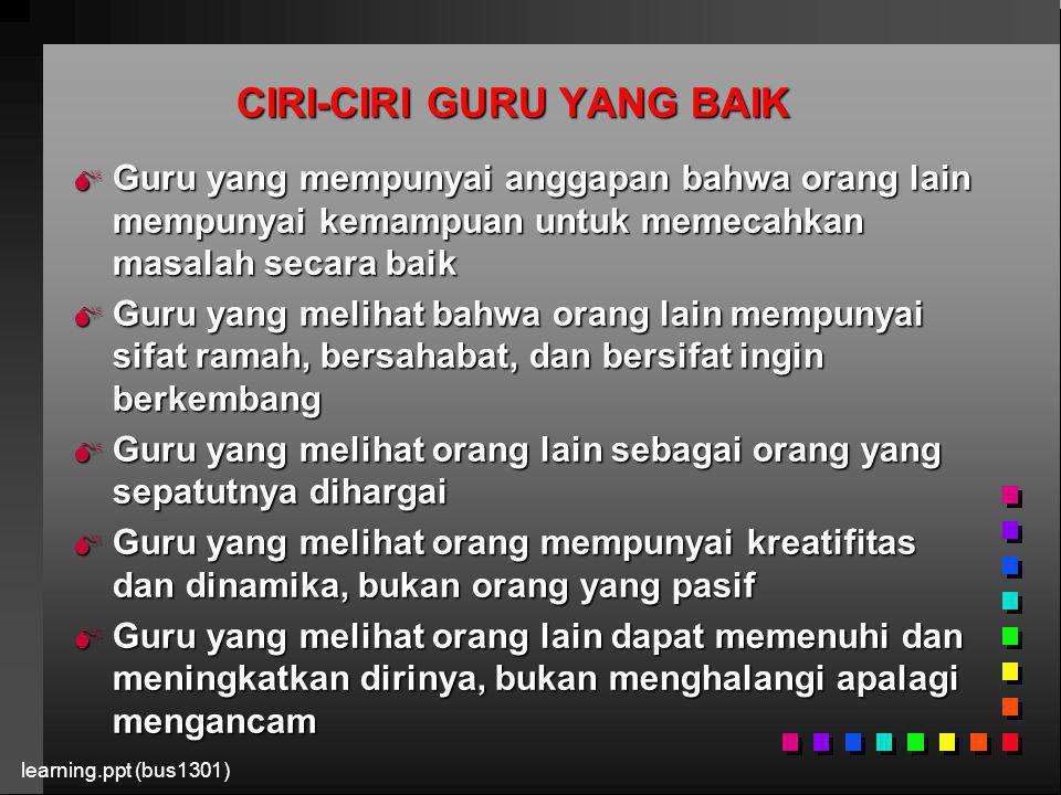 CIRI-CIRI GURU YANG BAIK