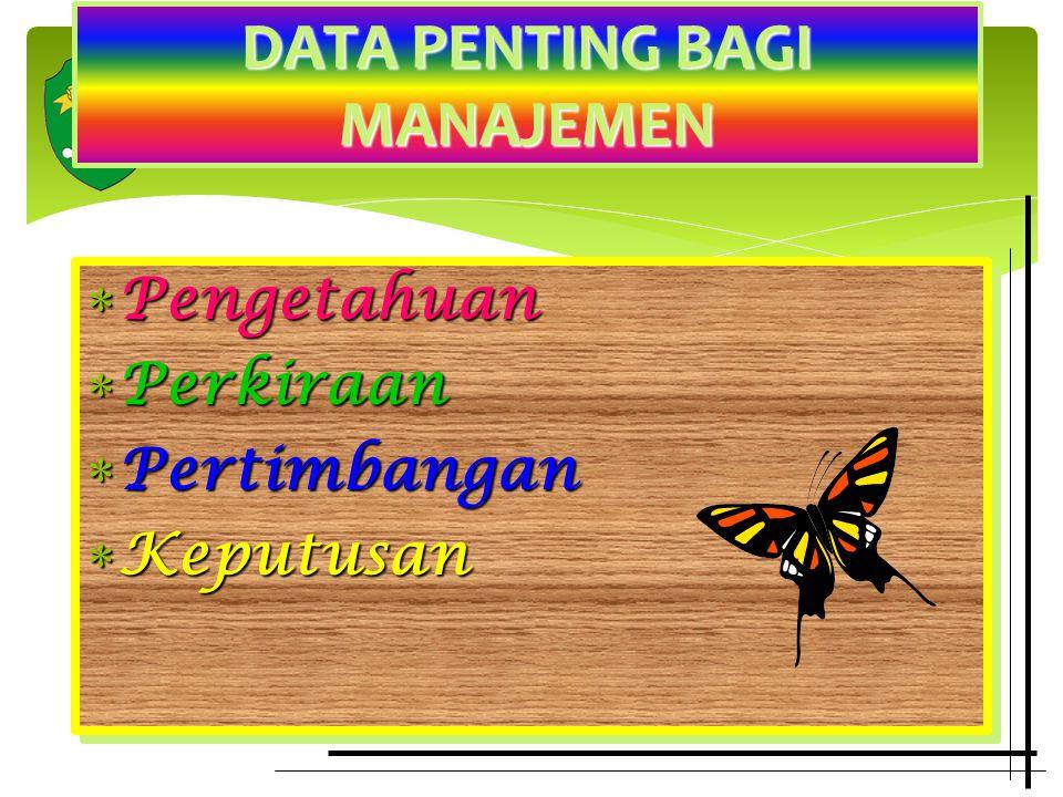 DATA PENTING BAGI MANAJEMEN