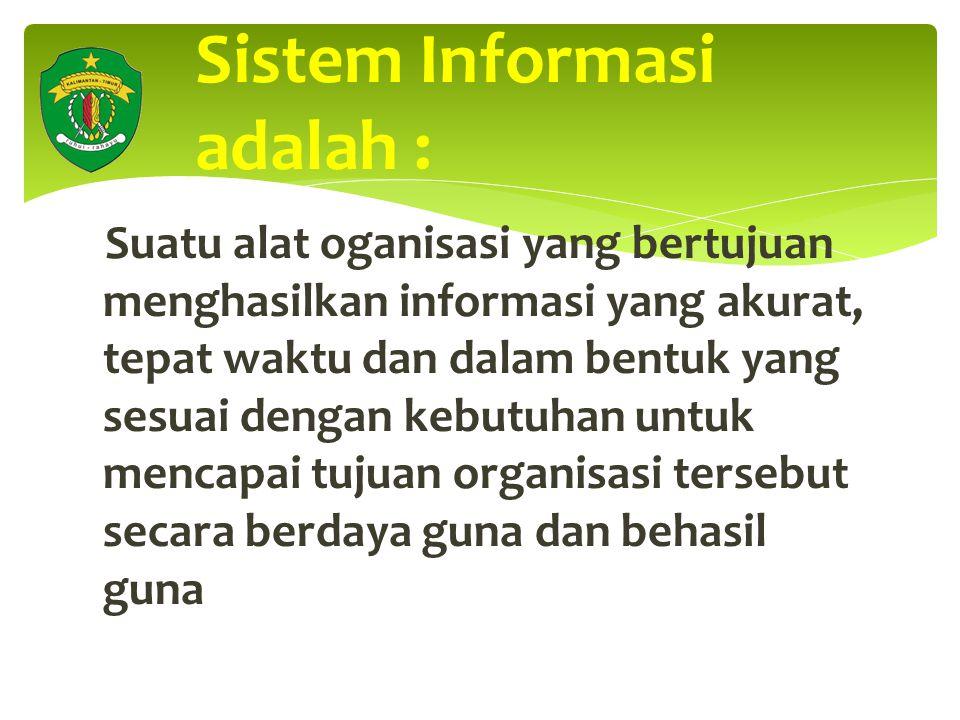 Sistem Informasi adalah :