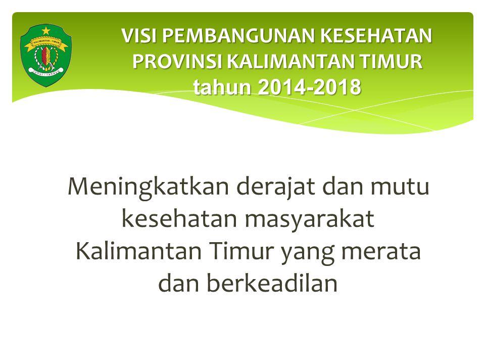 VISI PEMBANGUNAN KESEHATAN PROVINSI KALIMANTAN TIMUR tahun 2014-2018
