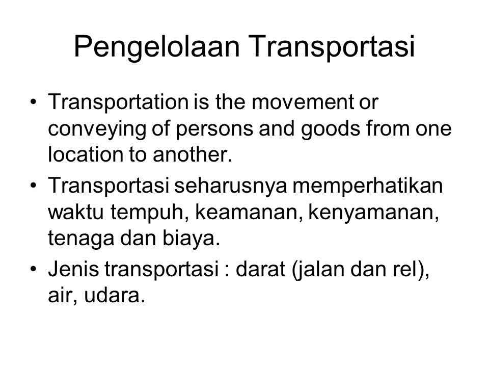 Pengelolaan Transportasi