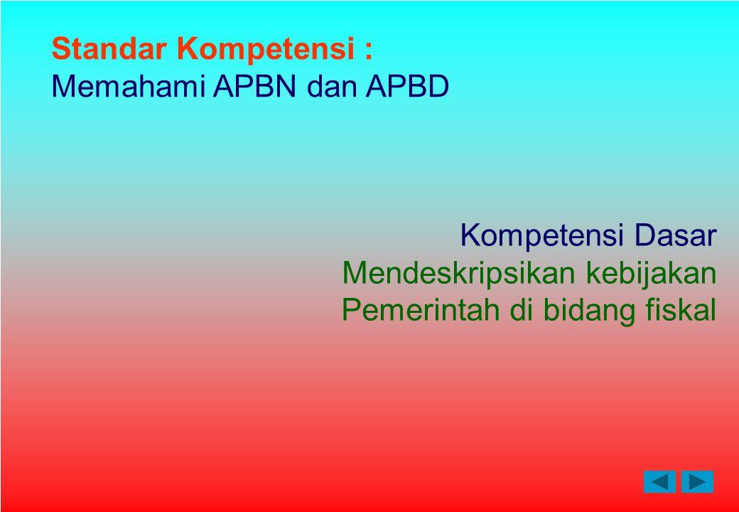 Standar Kompetensi : Memahami APBN dan APBD. Kompetensi Dasar.