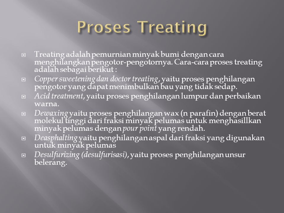 Proses Treating