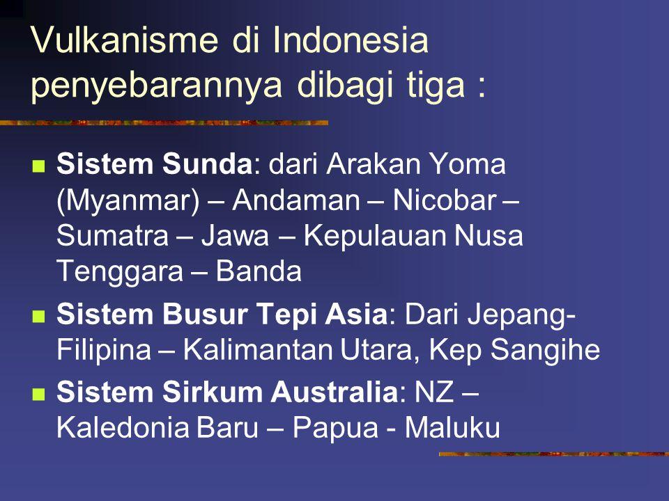 Vulkanisme di Indonesia penyebarannya dibagi tiga :