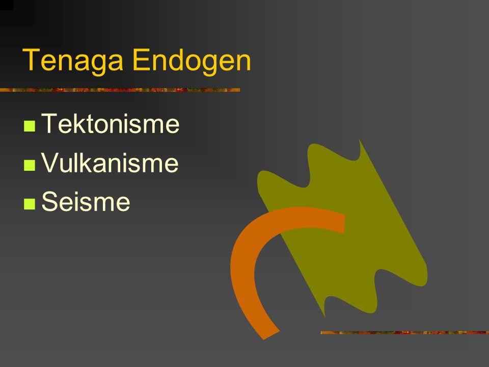 Tenaga Endogen Tektonisme Vulkanisme Seisme