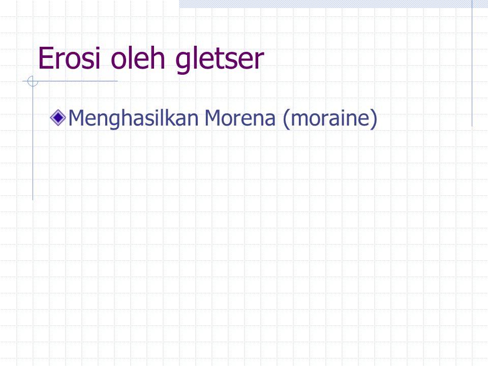 Erosi oleh gletser Menghasilkan Morena (moraine)