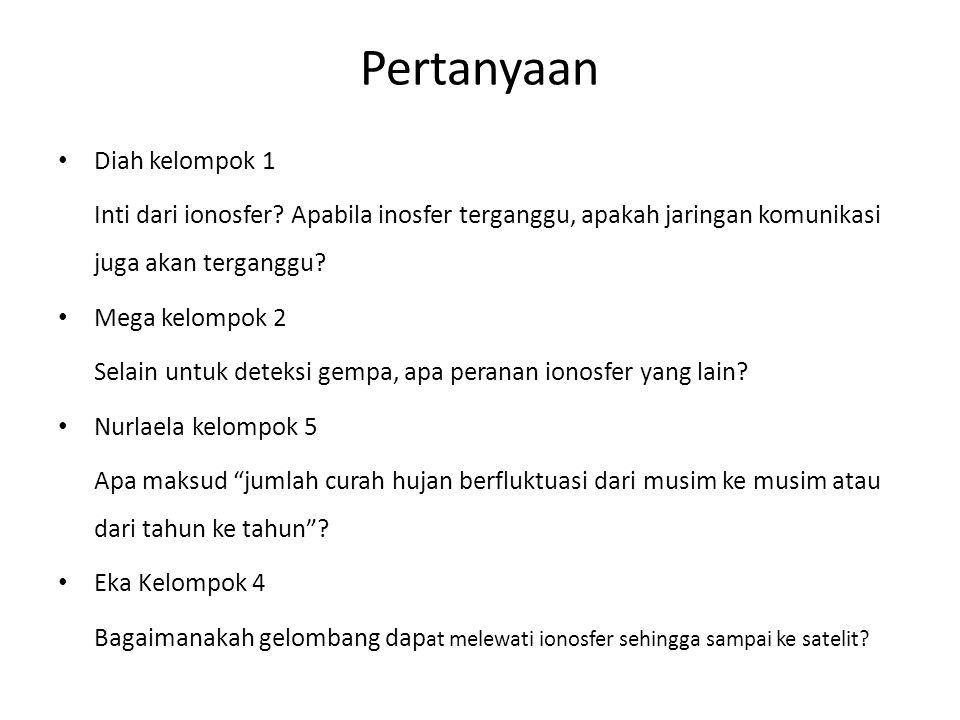 Pertanyaan Diah kelompok 1