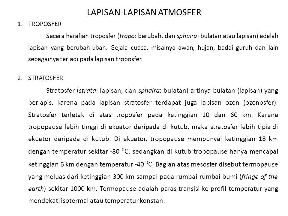 LAPISAN-LAPISAN ATMOSFER