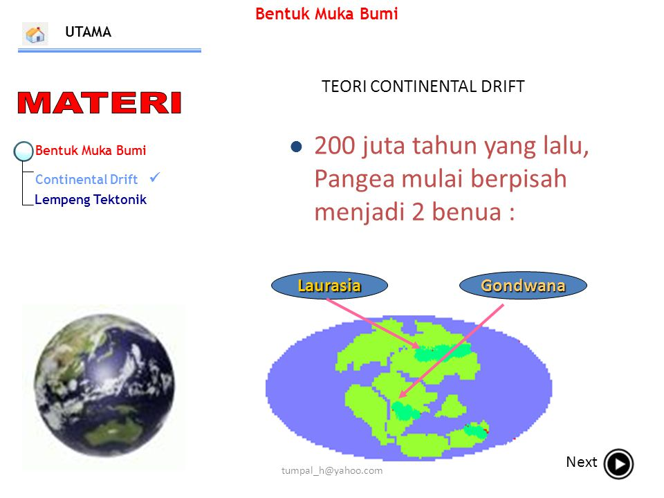 TEORI CONTINENTAL DRIFT