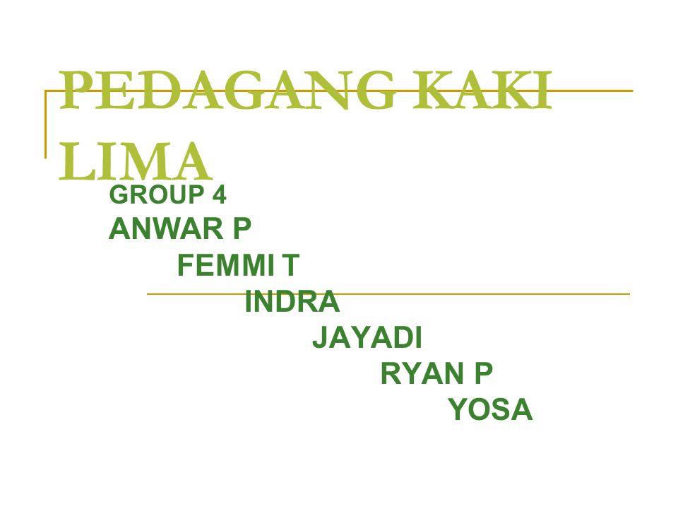 GROUP 4 ANWAR P FEMMI T INDRA JAYADI RYAN P YOSA