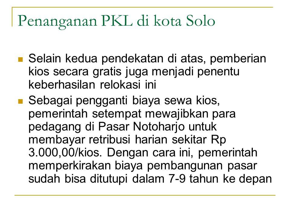 Penanganan PKL di kota Solo