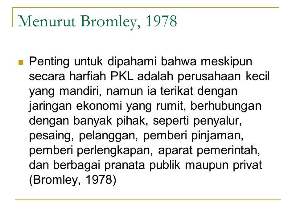 Menurut Bromley, 1978