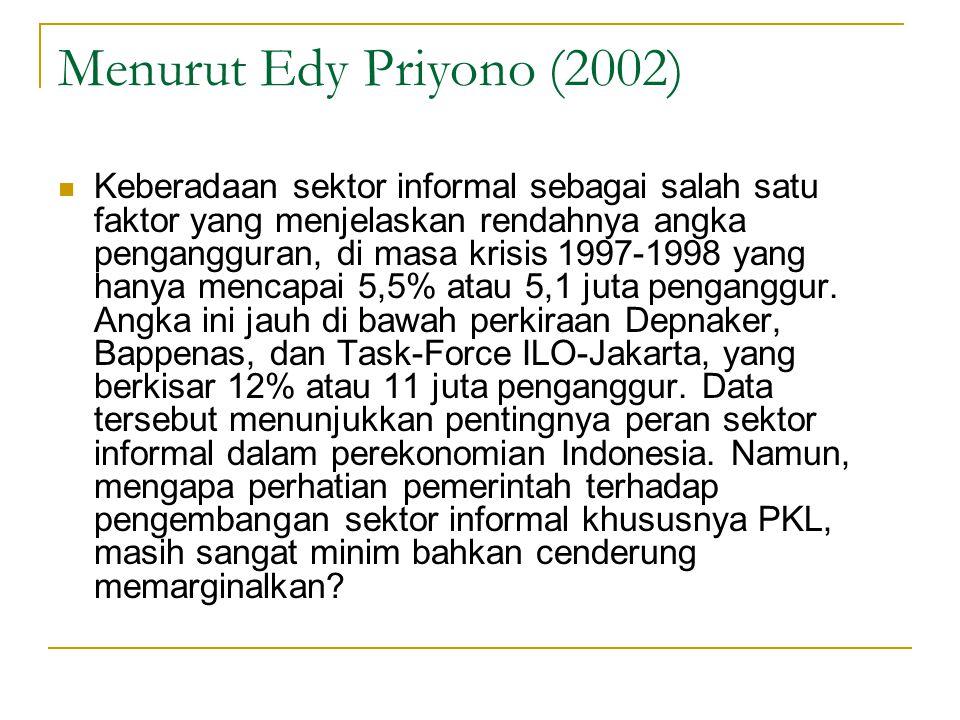 Menurut Edy Priyono (2002)