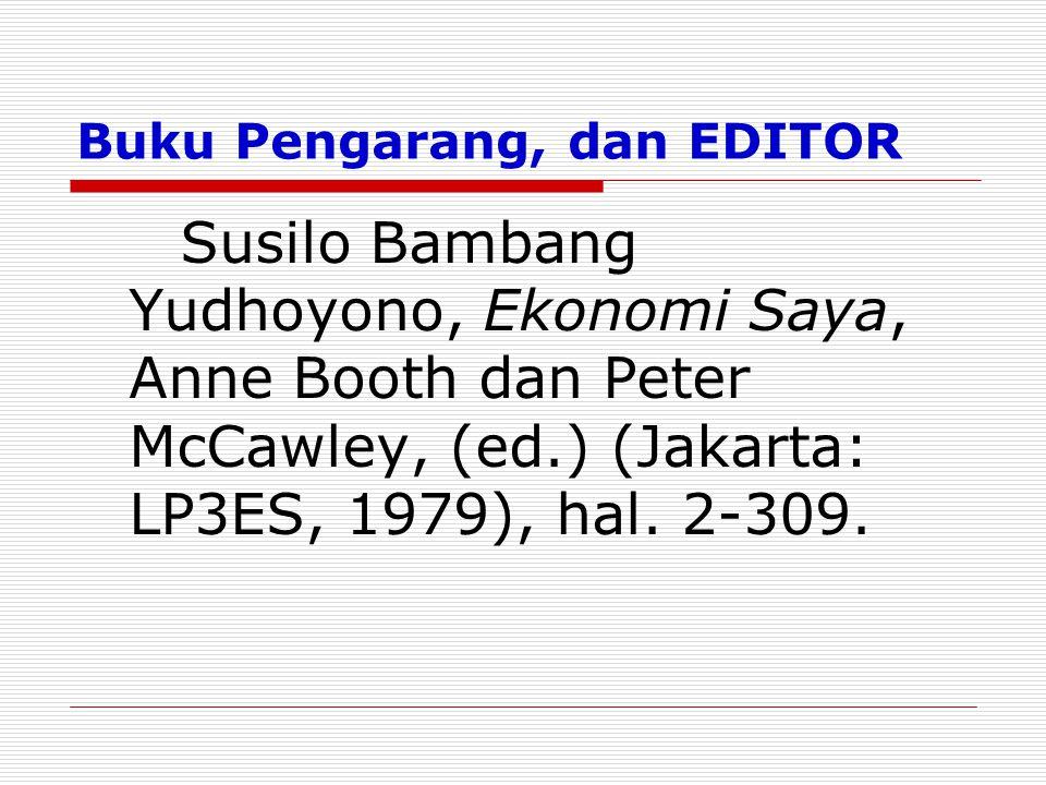 Buku Pengarang, dan EDITOR